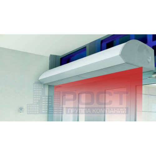 Монтаж тепловой завесы длинной от 1900мм, высота установки до 3м, без подводки электропитания